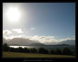 Sunset over Manapouri by Crooty