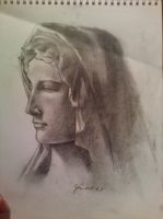 study of Bruges Madonna by iVulcan