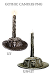 Gothic Candles PNG by KarahRobinson-Art