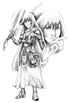 Dissidia: Maiden of Light by cluedog