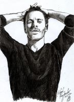 Sketch - Michael Fassbender II by tankgirly