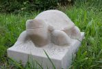 Turtle Sandstone carving W.I.P-Video by stone-sculptor