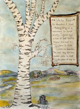 The Great White Tree of Hickory Valley by LAGiampietro