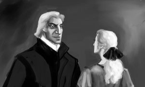 Abraxas Malfoy and Narcissa Black by Lucius007