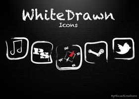 WhiteDrawn Icons by RazedCreations