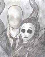 Slenderman and masky by Zeoro