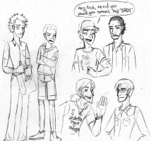 Some sketches of some dudes. by kytri