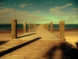 Shack pier in color by denehy