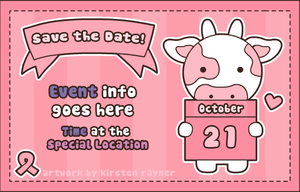Save the Date card by SqueakyToybox