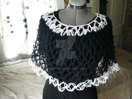 Black and White Poncho by sarlaz