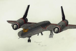Raymond the SR-71 by GoldenHorizons