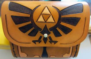 Legend of Zelda Leather Belt Pouch by Kaje202