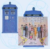 TARDIS Birthday Card by CrimsonReach