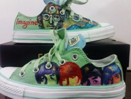 Converse BEATLES by alcat2021