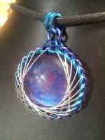 Evening Fractal Pendant by BacktoEarthCreations
