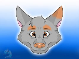 Wolfie headshot by PunkHound