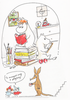 Reading Moomin-books by Lahara