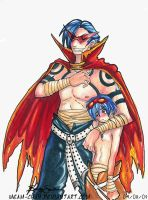 Kamina and Simon by Meam-chan