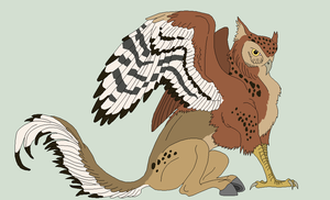 Owl Hippogriff Lineart by Xbox-DS-Gameboy