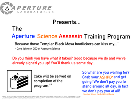 Aperture Science Assassin Training Program by VampireVampyre