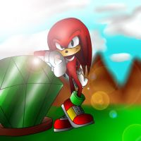 Knuckles With Master Emerald by Sonri97