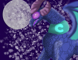 Luna the evil moon dragon by D0omy