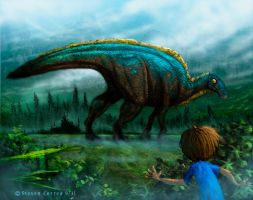 Dinosaurs In My Backyard by prolificlifeforms