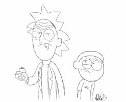 Here's A *burp* R-Rick And Moorrrty Pic by TheIransonic