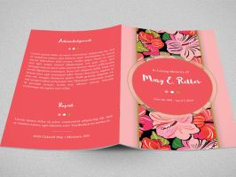 Hibiscus Bi-Fold Funeral Program Template by Godserv