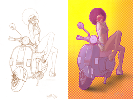 Vespa_colored by CleverBlue