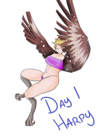 30 Day Monster Girl Challenge- Harpy by ladny