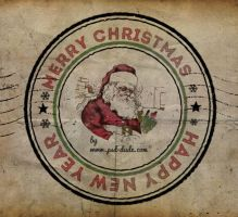 Christmas Santa Rubber Stamp in Photoshop by PsdDude