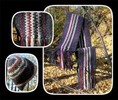 Autumn Scarf and Hat by MuseSusan