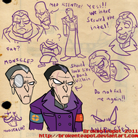 TF2 Male Announcer concepts by BrokenTeapot