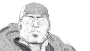 Marcus Fenix sketch by myoume