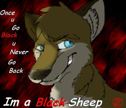 Wolpy the black sheep by ValkyrieMoon