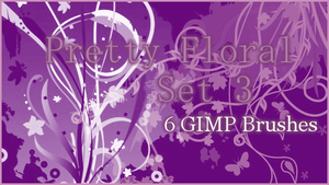 GIMP Pretty Floral Set3 by Illyera