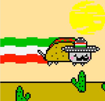 Mexican Nyan Cat!!!! by RetardedAndProud