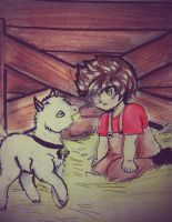 Kai and goat by Squira130