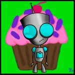 Gir and Cupcake by DCDamio