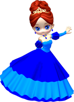 Princess in Blue Poser PNG Clipart (20) by clipartcotttage