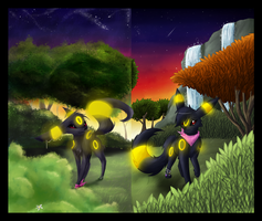 Umbreon collab by Psunna
