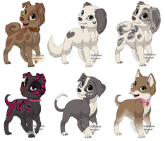 Adoptables by Memethekitten