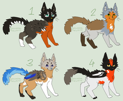 Robin-based cat designs (OPEN) by JocastaTheWeird