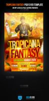 Tropicana Fantasy Party Flyer Template by ImperialFlyers