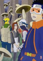 kakashi gaiden forest by Colouring-Dude