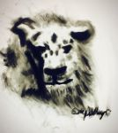 a lion done in charcoal whatcha think? by XanderCakes