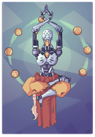 Zenyatta Overwatch by ThePixelPuffin
