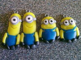 Minion charms by Pandannabelle