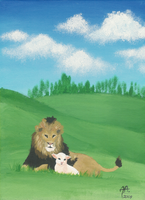 The Lion and the Lamb by Sleeping-Sheep